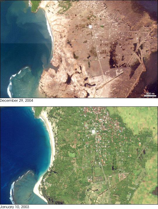 Tsunami Destroys Lhoknga, Indonesia