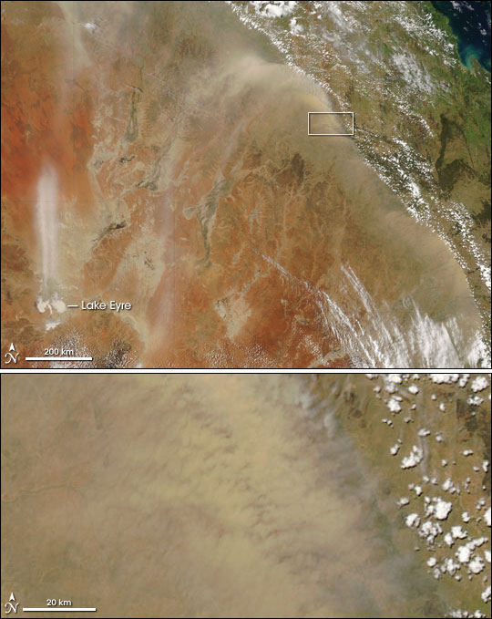High Winds Raise Dust over Australia