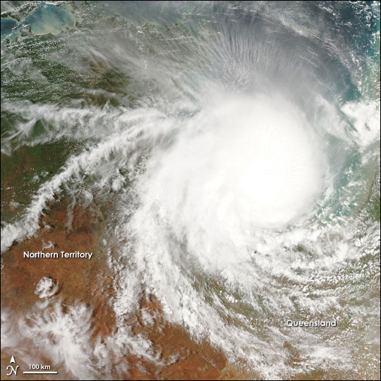 Cyclone Harvey Moves Over Australia