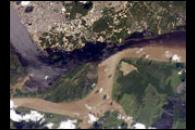 Solimões-Negro River Confluence at Manaus, Amazonia