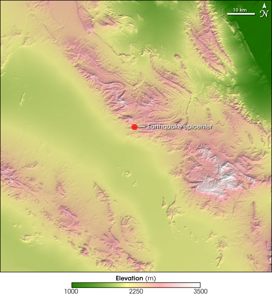Earthquake Near Zarand, Iran
