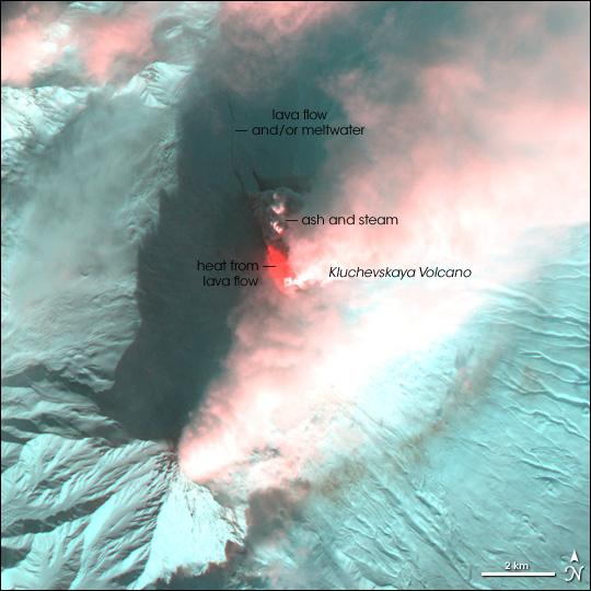 Klyuchevskaya Volcano Erupts