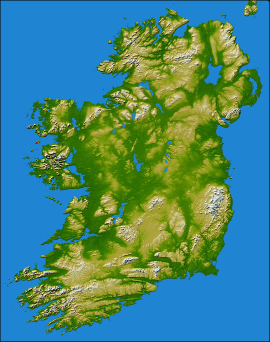 Topography of Ireland