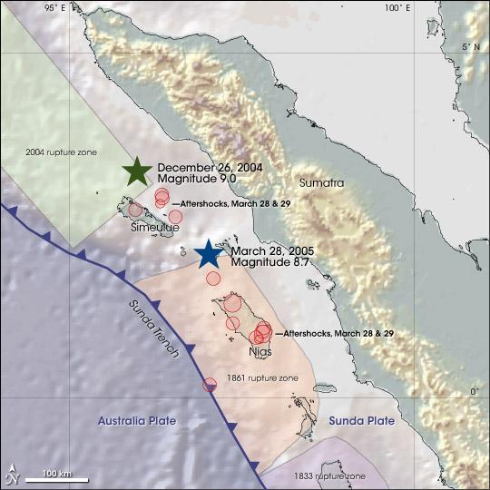Massive Earthquake Along the Sunda Trench
