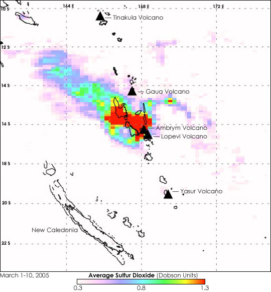 Sulfur Dioxide Seeps from the Ambrym Volcano - related image preview