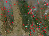 Widespread Fires in Southeast Asia