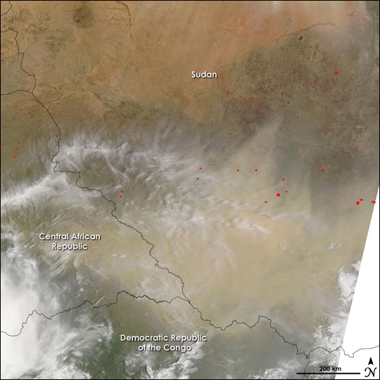 Dust Storm in Central Africa