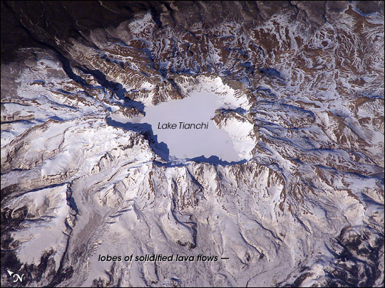 Baitoushan Volcano, China and North Korea