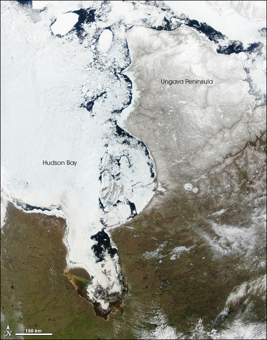 Thawing Ice on Hudson Bay