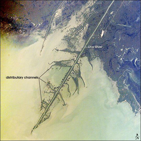 Ural River Delta, Kazakhstan