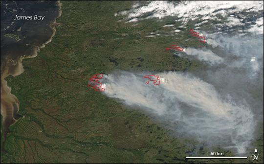 Fires in Quebec, Canada