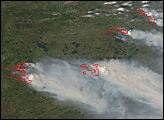 Fires in Quebec, Canada