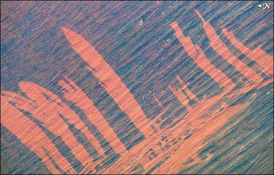 Fire Scars in Australia's Simpson Desert