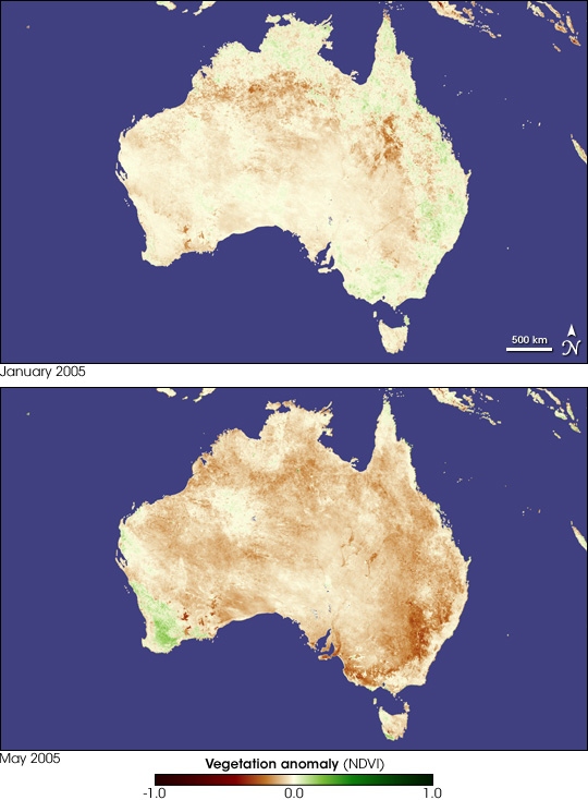 Worsening Drought in Australia