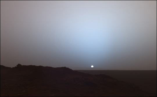 Sunset on Mars: A Moment Frozen in Time