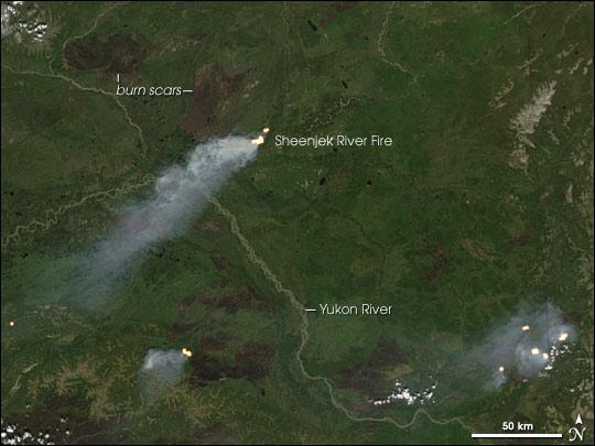 Fires in Yukon Flats, Alaska