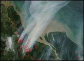 Fires on Sumatra