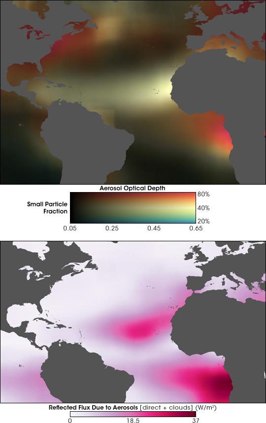 Aerosols Increase Clouds, Brighten Atlantic Skies