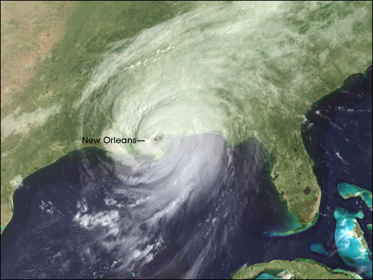 Hurricane Katrina Arrives