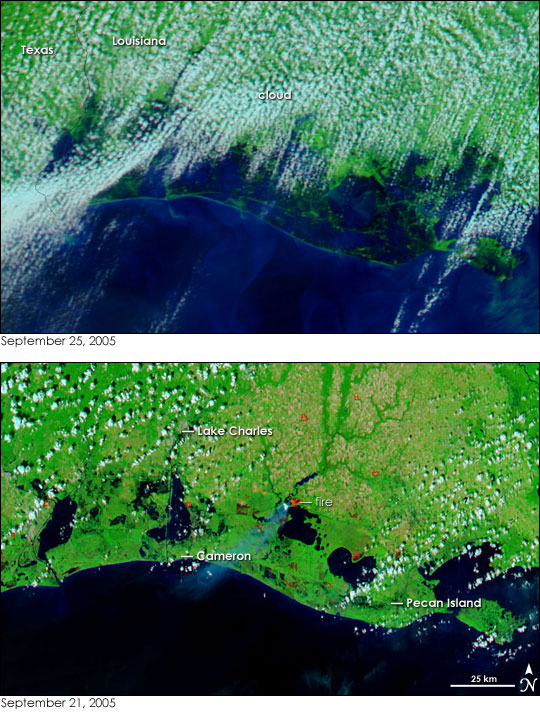 Hurricane Rita Floods the U.S. Gulf Coast
