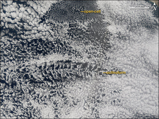 Cloud Formations off the West Coast of South America