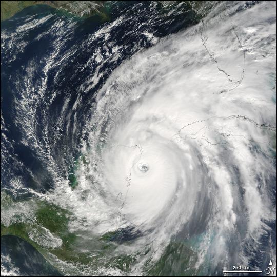 Hurricane Wilma Strikes the Yucatan