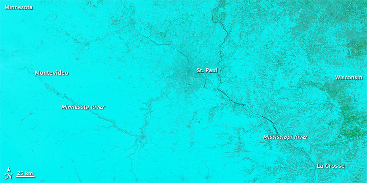 Retreating Snow and Advancing Water in the Upper Midwest