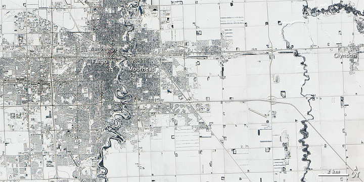 Receding Snow Sets Stage for Floods near Fargo Natural Hazards