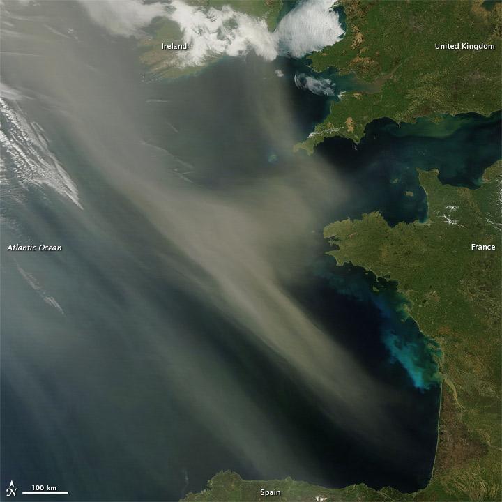 Saharan Dust off Europe
