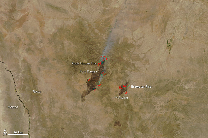 Wildfires in Southwest Texas