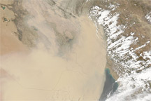 Dust Storm in the Middle East