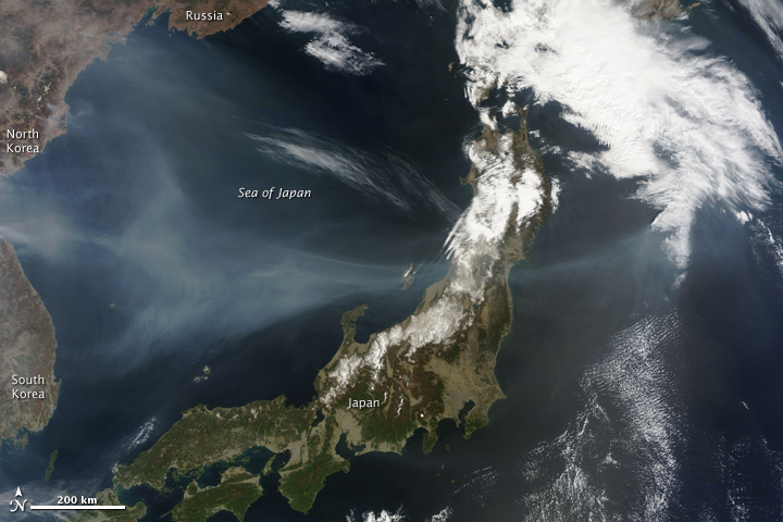 Fires and Smoke in North Korea