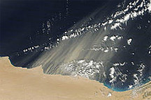 Dust Plumes off Egypt and Libya