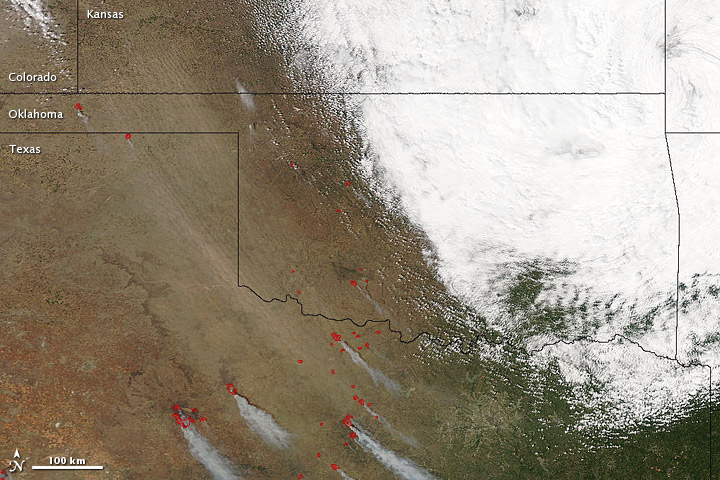 Dust Storm in Oklahoma and Texas