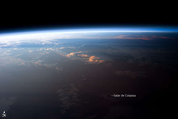 Sunset over Western South America - related image preview