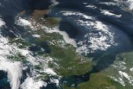 Haze over the United Kingdom