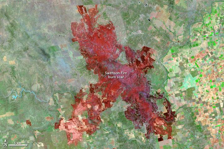 Swenson Fire in Texas