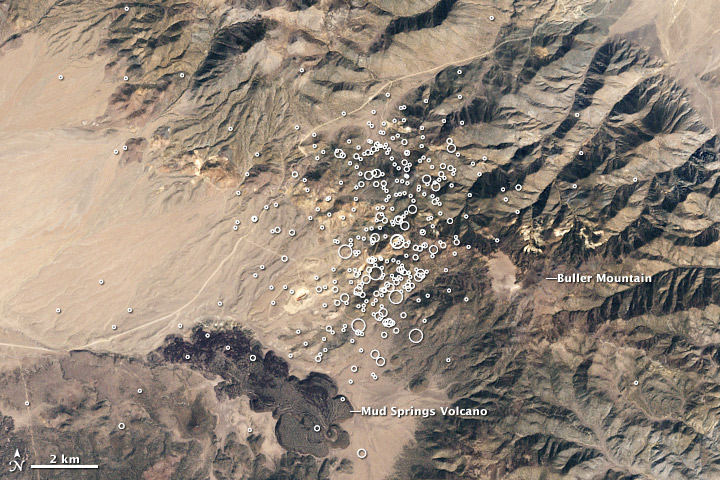 Earthquake Swarm near Hawthorne, Nevada