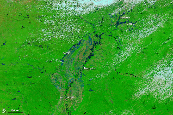 Flooding along the Mississippi River