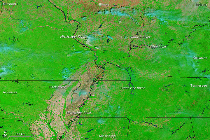 Continued Flooding along the Mississippi