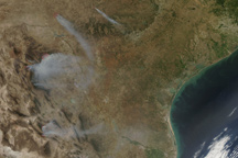 Fires in Mexico and Texas