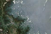 Haze over the Sichuan Basin