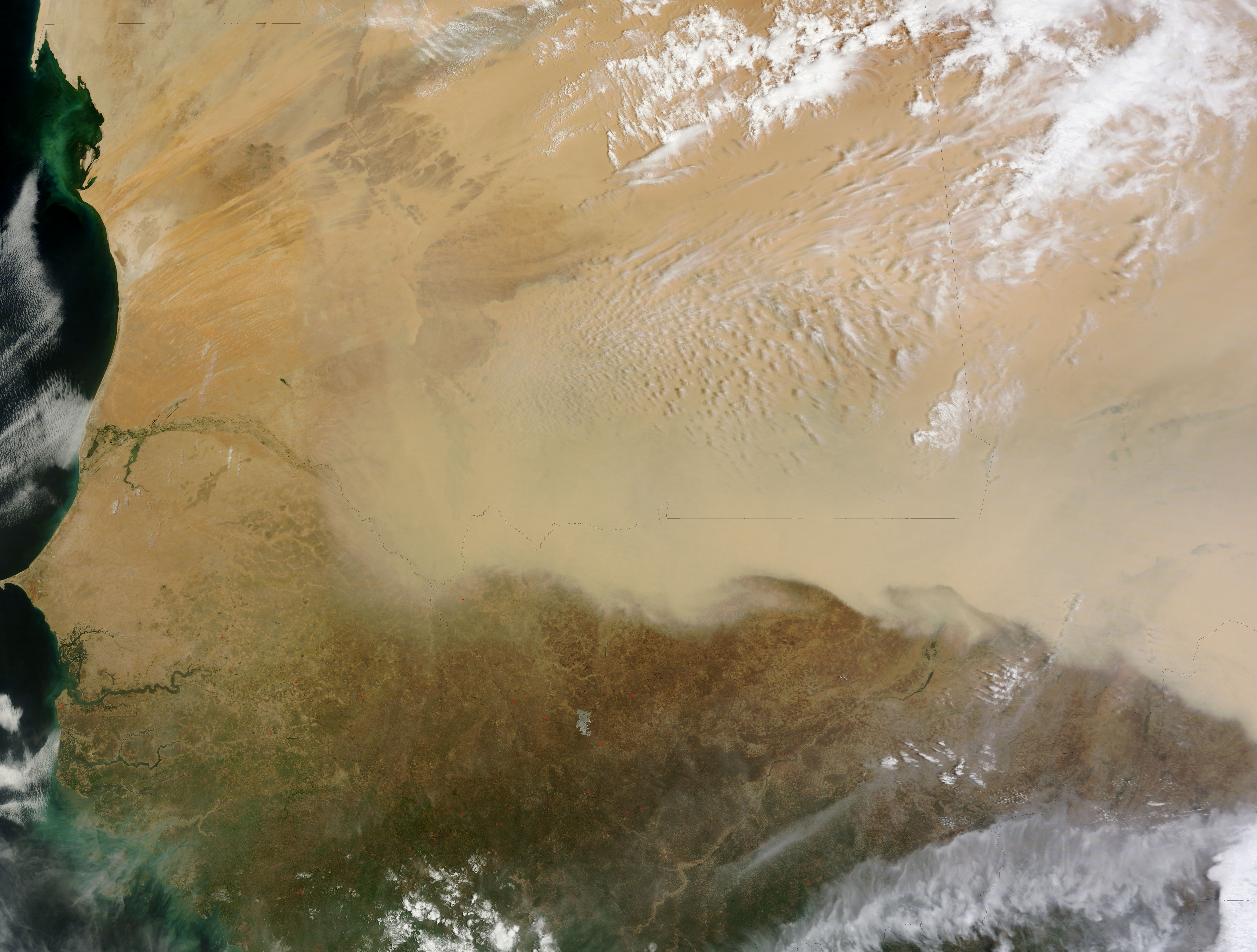 Dust Storm In The Sahara Desert Natural Hazards