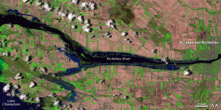 Flooding along the Richelieu River, Quebec