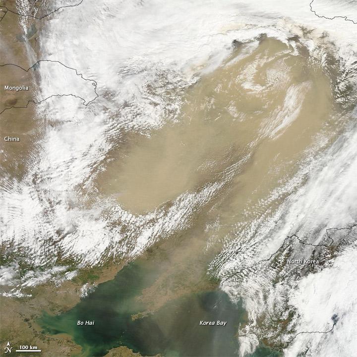 Gobi Dust Reaches Northeastern China