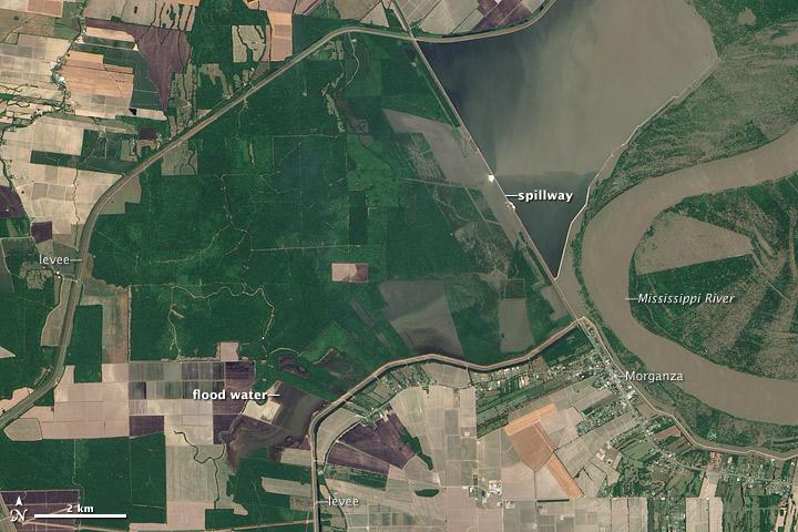 Morganza Spillway Opens in Louisiana