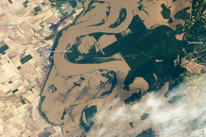 Mississippi Floods in Arkansas and Tennessee