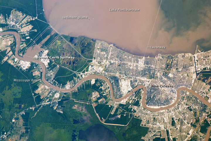 Sediment Plume in Lake Pontchartrain