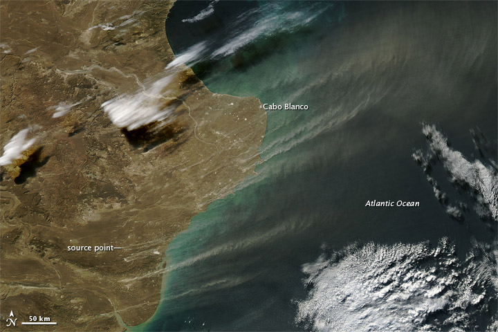Dust Plumes off Argentina