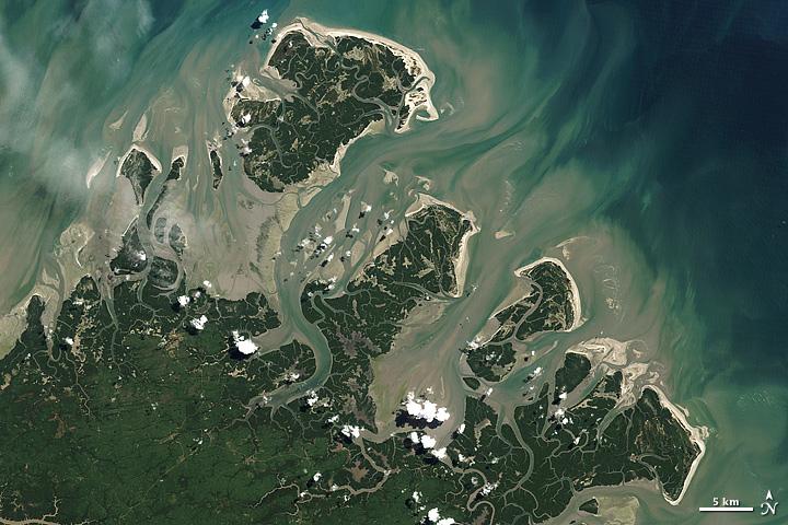 Barrier Islands off Brazil